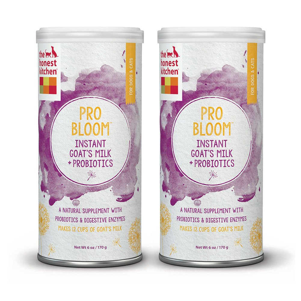 Honest Kitchen The Pro Bloom Dehydrated Instant Goat's Milk with Probiotics for Dogs & Cats, 6 oz. (2 Pack)