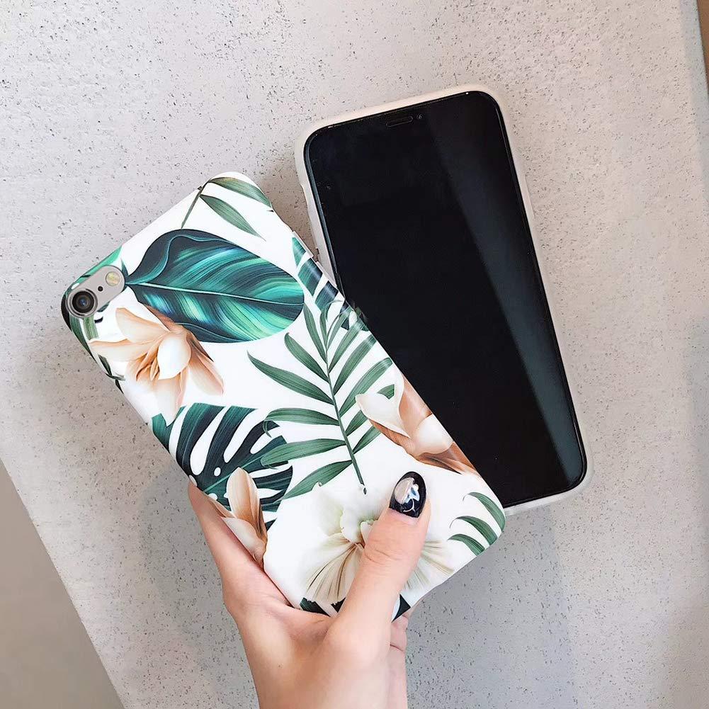Herbests Compatible avec iPhone 6S Plus Coque Ultra Souple Flexible Silicone Doux TPU Etui Ultra-Light Ultra-Mince Case Anti-Rayures Gommage Cr/éatif Design Creative Peint Couverture Cover,Blanc