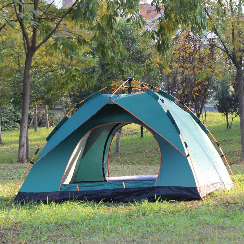TY&WJ Automatisch Familienzelt,Kuppelzelte Für Outdoor-sportarten Klettern Wandern Zelte Portable Faltung 3-4 Personen