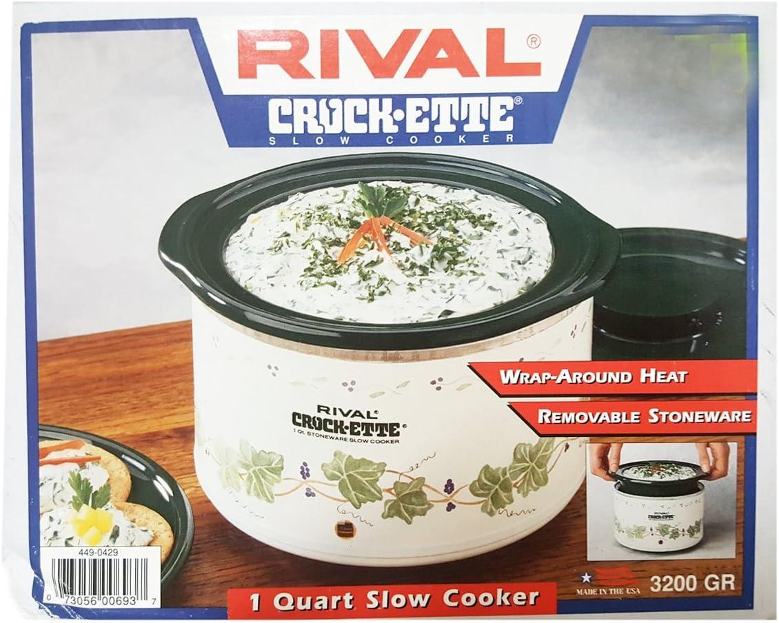 Rival Crock-ette 1 Quart Slow Cooker Green Ivy