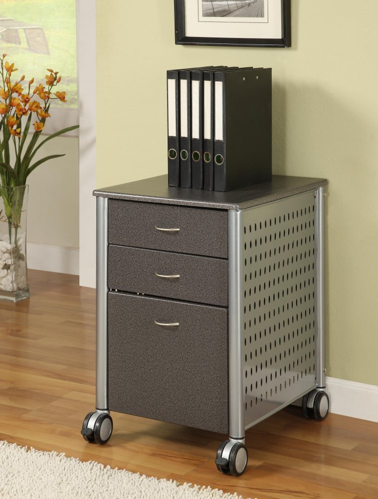 Amazon.com: Innovex Archive Series Filing Cabinet, Granite Black: Kitchen U0026  Dining