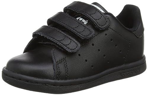 adidas Stan Smith CF, Sneaker Unisex-Bimbi, Nero Core Black/Footwear White