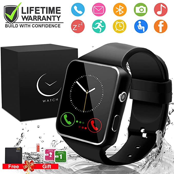 Smart Watch,Smartwatch for Android Phones, Smart Watches Touchscreen with Camera Bluetooth Watch Phone with SIM Card Slot Watch Cell Phone Compatible ...