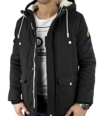 on sale f5b40 1824a JACK & JONES ORIGINALS Herren Winter Jacke HIKE SHORT PARKA Black schwarz