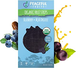 product image for Peaceful Fruits 100% Fruit Strips (Blueberry, 12 count)