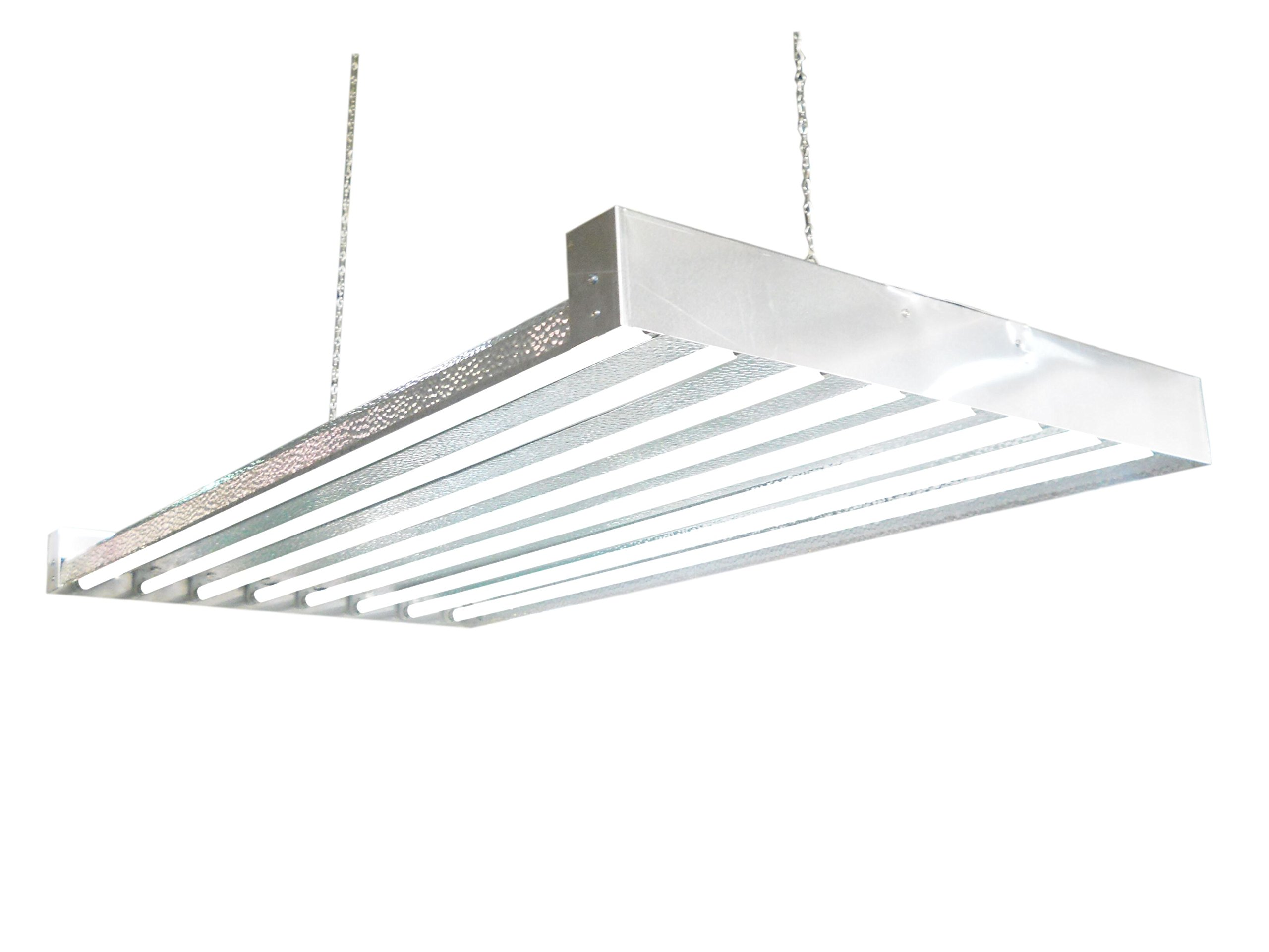 T5 HO Grow Light - 4 FT 8 Lamps - DL8408 Fluorescent Hydroponic Indoor Fixture Bloom Veg Daisy Chain with Bulbs
