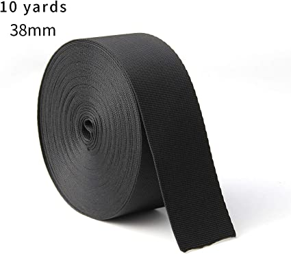 Straps Sporting Crafts 2 Inch Black Heavy Webbing 5 Yards Nylon Bags