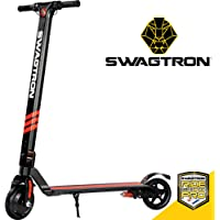 Swagger Pro Foldable Electric Scooter w/Cruise Control, 14.2-Mile Range, Rear Suspension and 15.5 mph Max Speed (SG-3)