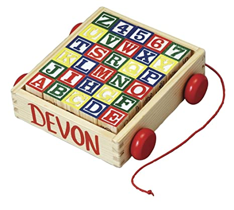 Fox Valley Traders Personalized Wooden Blocks And Cart