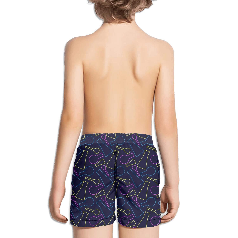 Ouxioaz Boys Swim Trunk Flat Design Neon Lips Beach Board Shorts