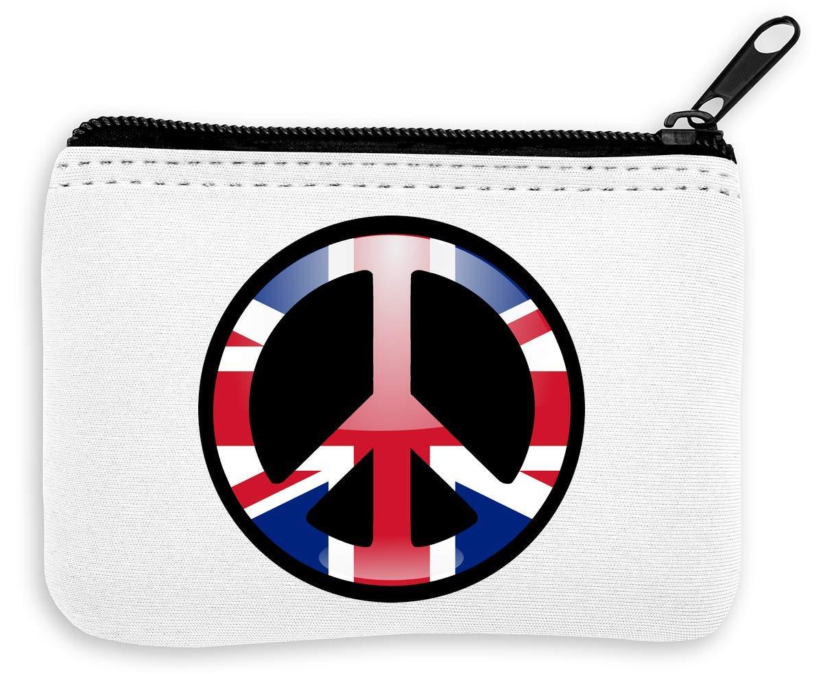 United Kingdom Flag Styled Hippie Peace Sign Monedero de la ...