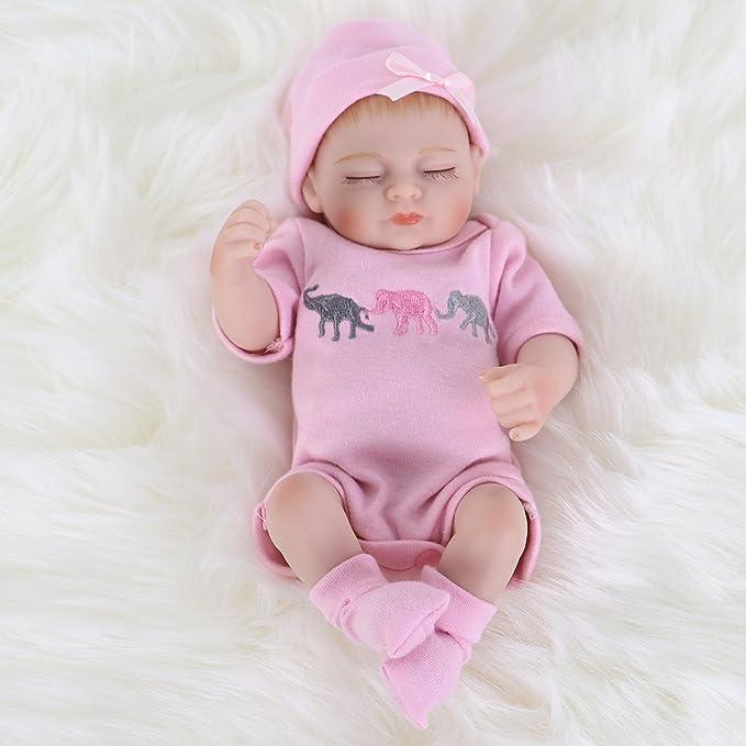 Amazon.com: ENA Muñeca de bebé renacido realista de silicona ...