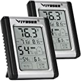 VIVOSUN Digital Indoor Thermometer and Hygrometer with Humidity Guage (2 Pack), Accurate Temperature Humidity Monitor…