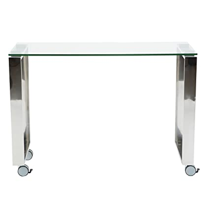 Side Table 40 Euro.Amazon Com Euro Style 09846clr Diego 40 Side Return Clear