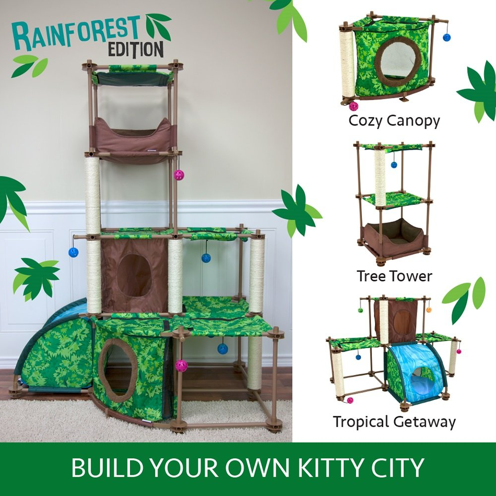 Kitty City Rainforest Tropical Getaway Cat Furniture, Cat Toy & Cat Bed by Kitty City (Image #4)
