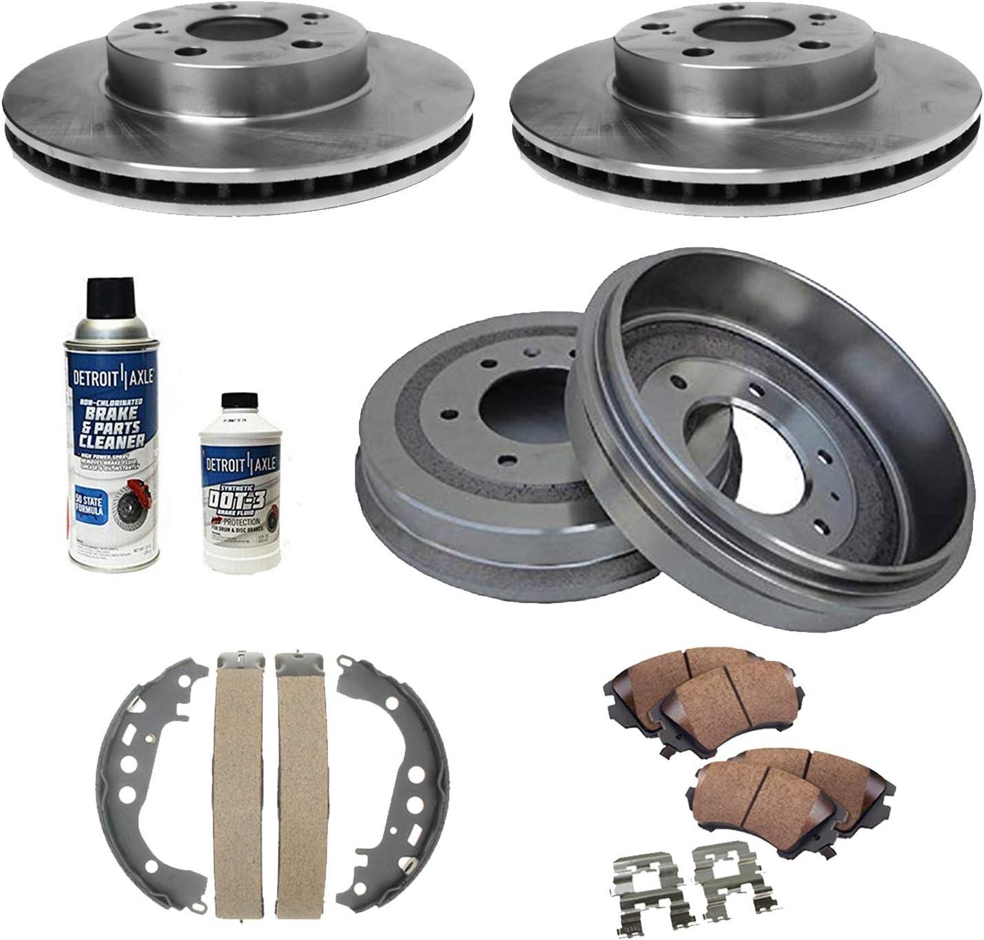 Front Brake Rotors /& Ceramic Brake Pads For 2000 2001 2002 2003 Toyota Prius