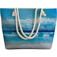 Sleepwish Extra Large Womens Canvas Beach Tote Bag with Top Zipper Closure and Waterproof, Spacious Summer Handbag with Trendy Design for Women