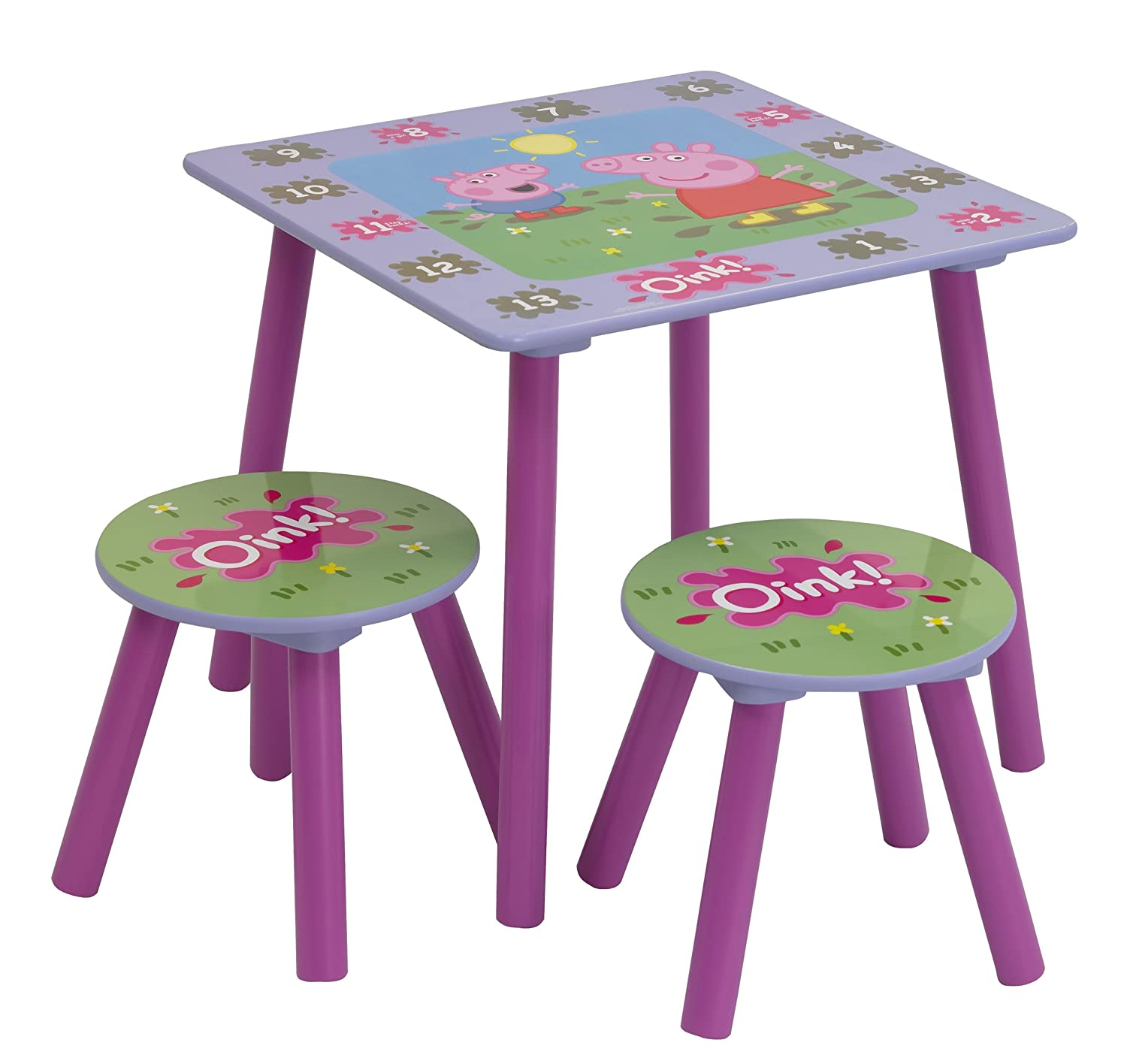Peppa Pig Table And Stools Amazon Kitchen & Home