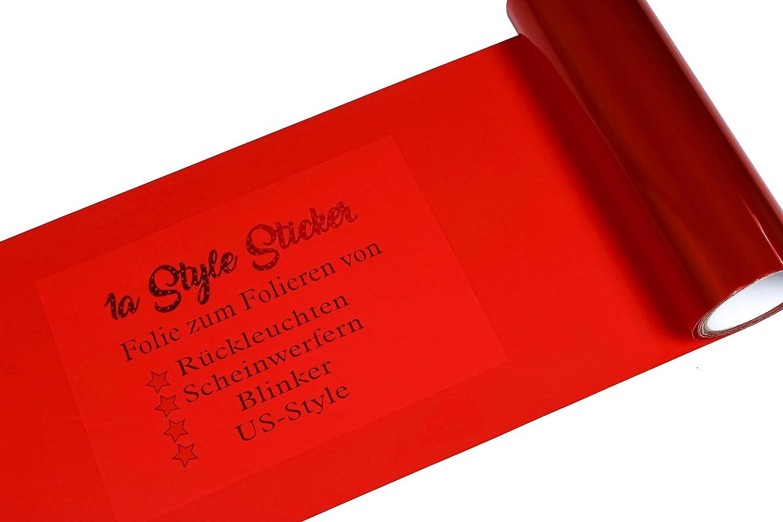 1A Style Sticker Auto Folie Rot R/ückleuchten Folierung Tuningfolie Rot T/önung passend f/ür alle Automarken Rote R/ückscheinwerfer 200cm