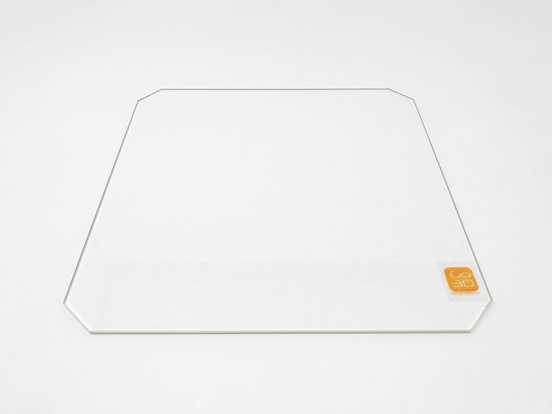 Placa de cristal de borosilicato de 220 mm x 220 mm con corte en ...