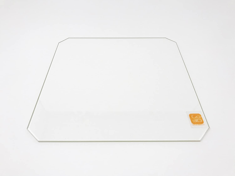 Placa de cristal de borosilicato de 220 mm x 220 mm con ...