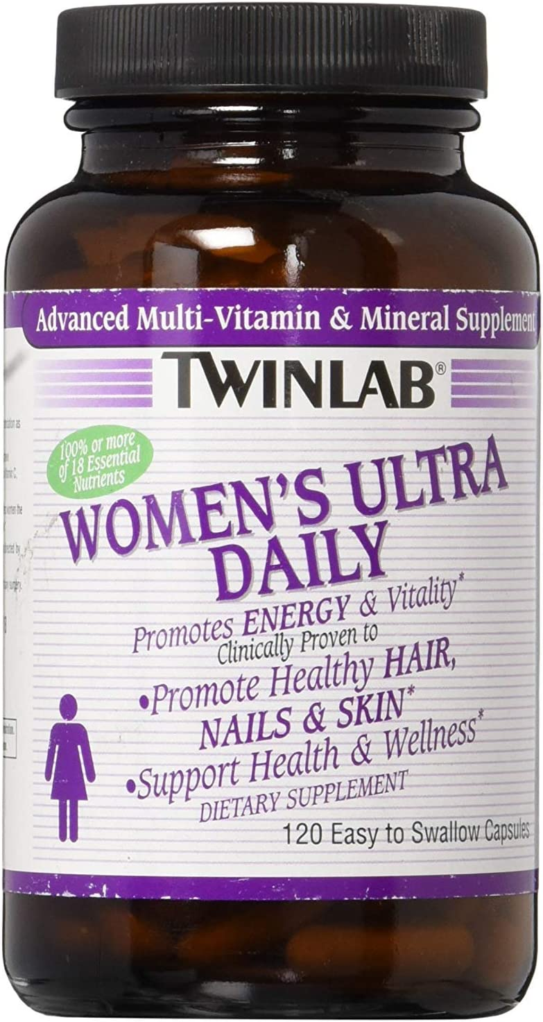 Twinlab Women s Ultra Daily Multivitamin 120 Capsules Dietary Supplement Supports Energy Production and Promotes Healthy Hair, Nails and Skin