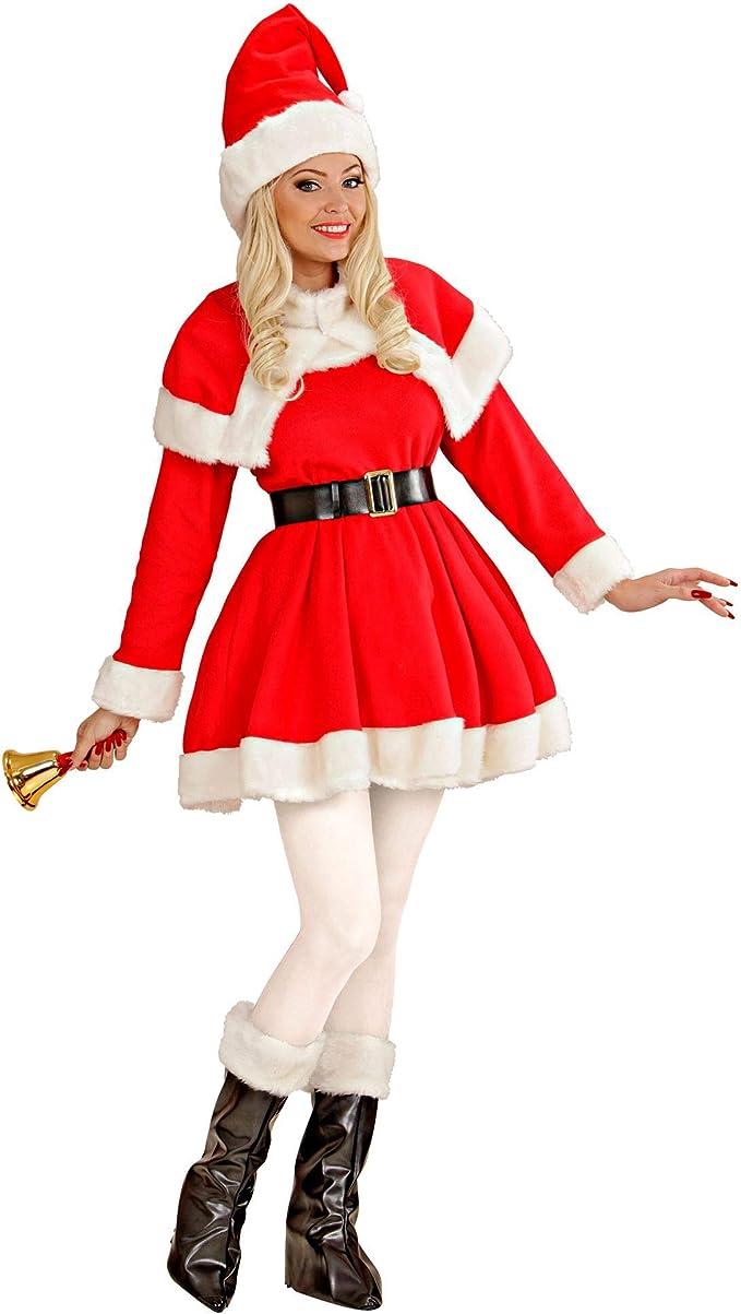 Abito Babbo Natale.Costume Babbo Natale Donna Babba Super Lusso Mamma Amazon It Abbigliamento