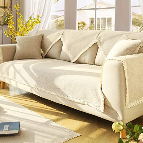 Amazon.com: SANDM Cotton and Linen Sofa slipcover, Furniture ...