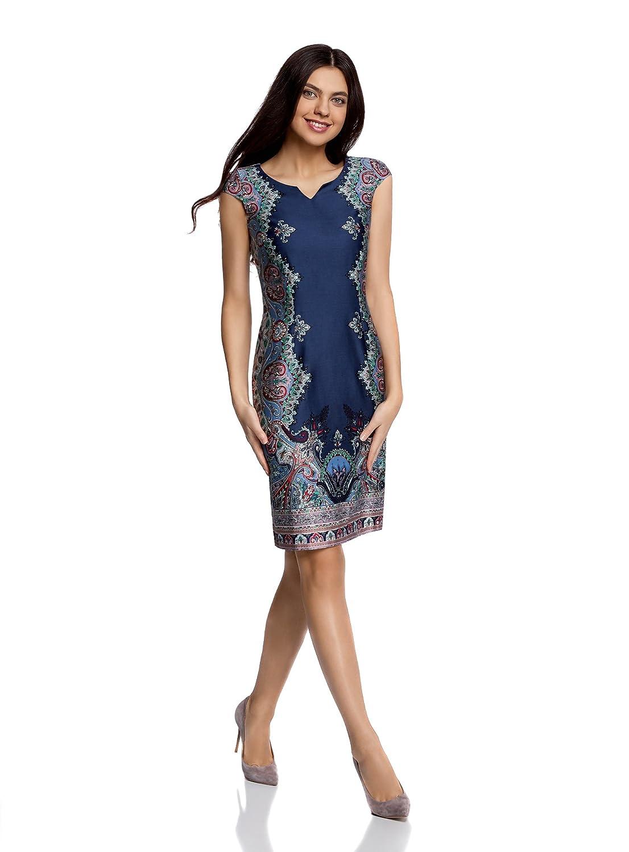 d949bb6b7207 oodji Collection Femme Robe en Coton avec Imprimé Éthnique  Amazon.fr   Vêtements et accessoires
