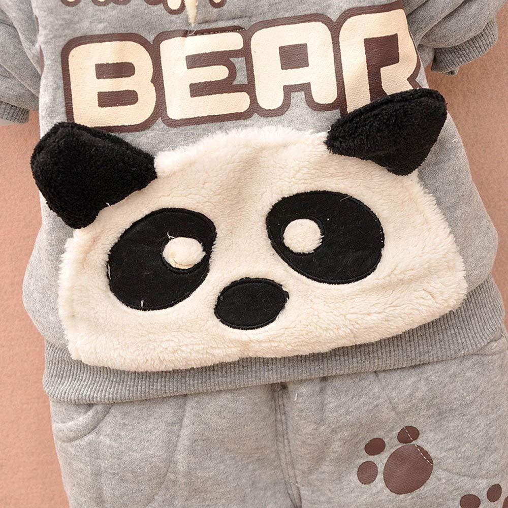 Kobay Baby Kinder Jungen Set Kleidung Langarm Karikatur Panda Top Hosen