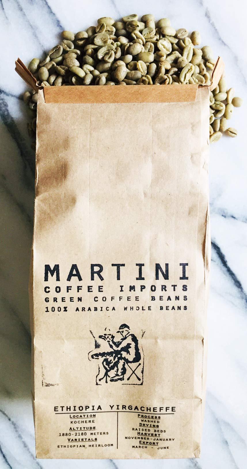 3LBS - Unroasted Green Coffee Beans - Single Origin - Ethiopia Yirgacheffe -100% Raw Green Arabica Coffee Beans - ( Yirgacheffe Region, Ethiopia, Africa) by Martini Coffee Roasters