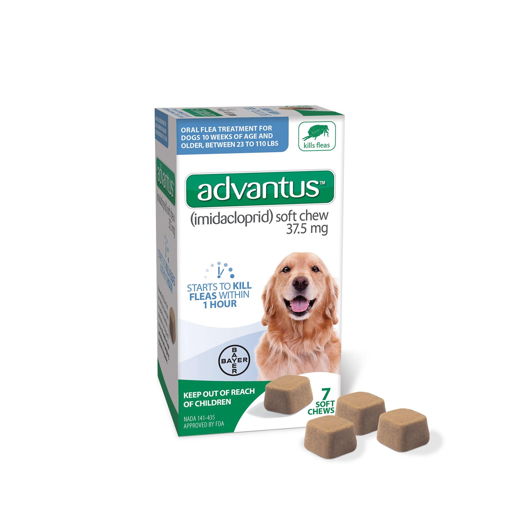 Bayer Animal Health Advantus 7 Soft Chew for Large Dog, 4 lb or Greater