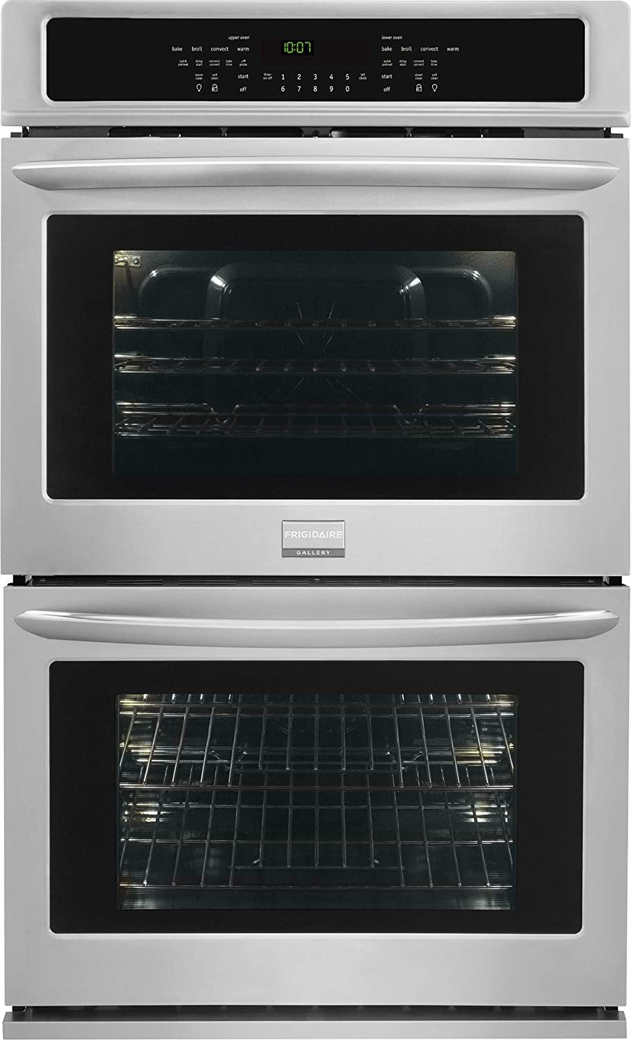 "Frigidaire FGET2765PF Gallery 27"" Stainless Steel Electric Double Wall Oven - Convection"