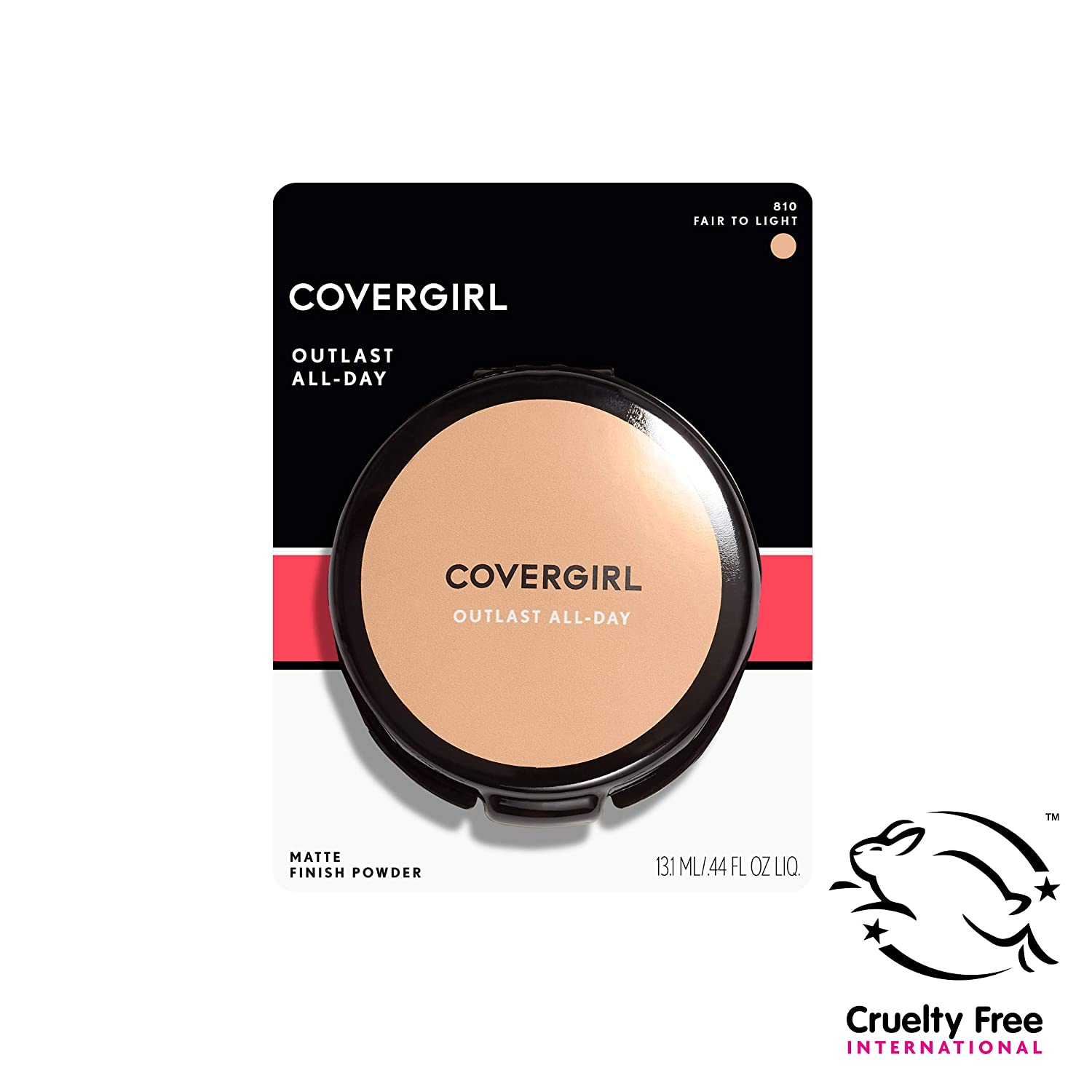 COVERGIRL Outlast All-Day Matte Finishing Powder, Fair to Light, 0.39 Ounce (Packaging May Vary)