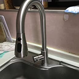 Amazon キッチン水栓 蛇口 キッチン 混合水栓 キッチン水栓 蛇口 台所 台付き 伸縮 360度回転 冷温切り替え 引き出し式 節水 キッチン用水栓