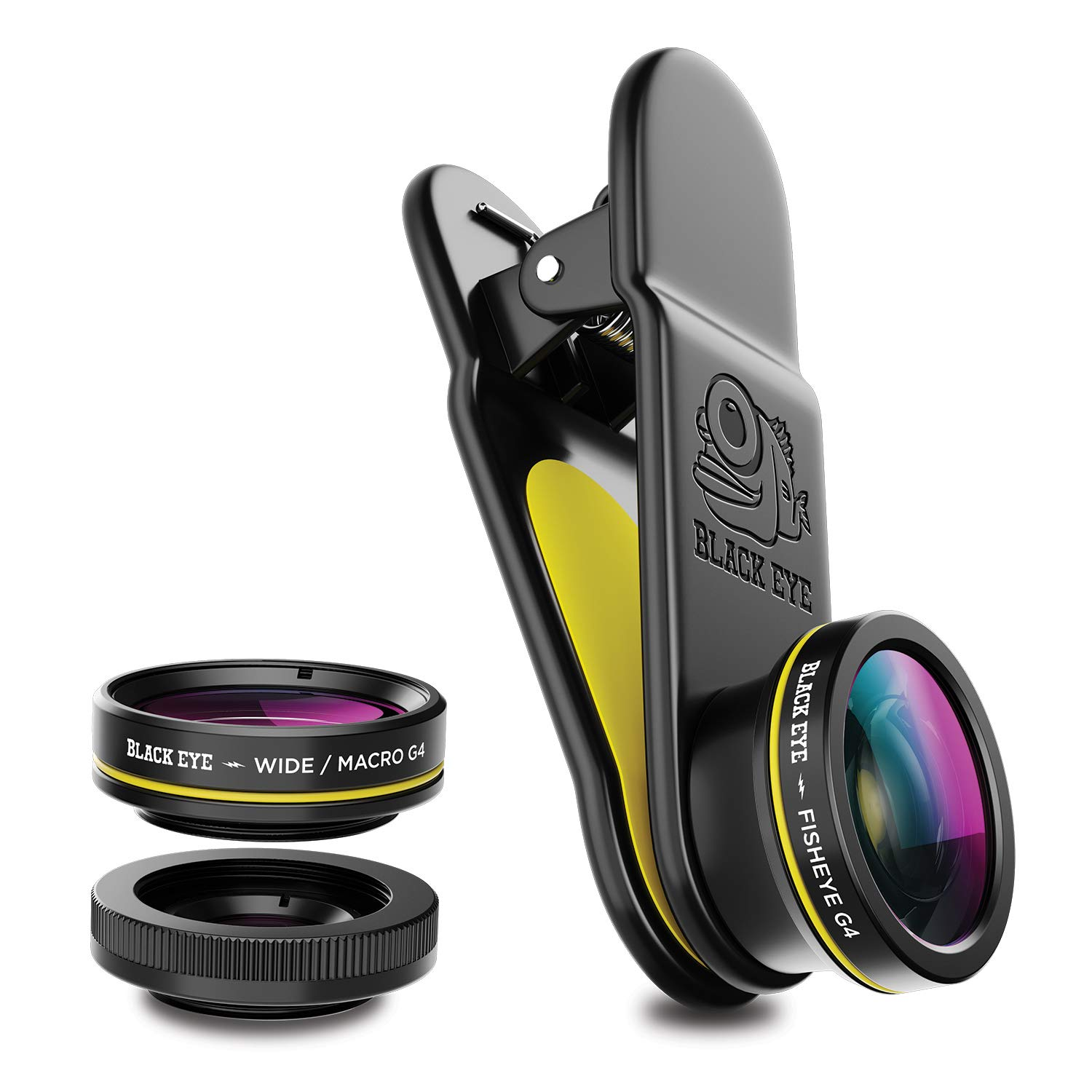 Phone Lenses by Black Eye    Clip-on Lens (3 Lenses) Compatible with iPhone, iPad, Samsung Galaxy, and All Camera Phone Models by BLACK EYE