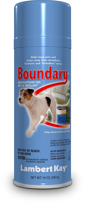 Lambert Kay Boundary Indoor/Outdoor Dog and Cat Repellent Aerosol Spray, 14-Ounce