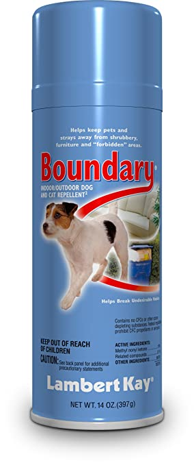 Lambert Kay Boundary Indoor/Outdoor Dog And Cat Repellent Aerosol Spray,  14 Ounce