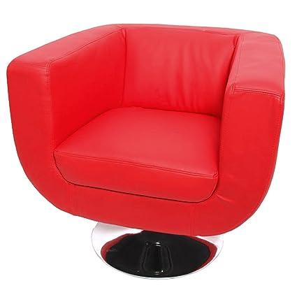 Sillón. Bar de Club de sillón Treviso II ~ rojo: Amazon.es ...