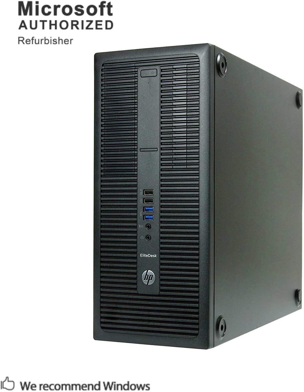 HP EliteDesk 800 G2 6th Gen Tower Business Desktop Computer, Intel Core i3 6100 3.7GHz,16G DDR4, 240G SSD, 2T, DVD, WiFi, BT 4.0, USB 3.0, VGA, DP, Win 10 64-Bit Supports EN/ES/FR(CI3)(Renewed)