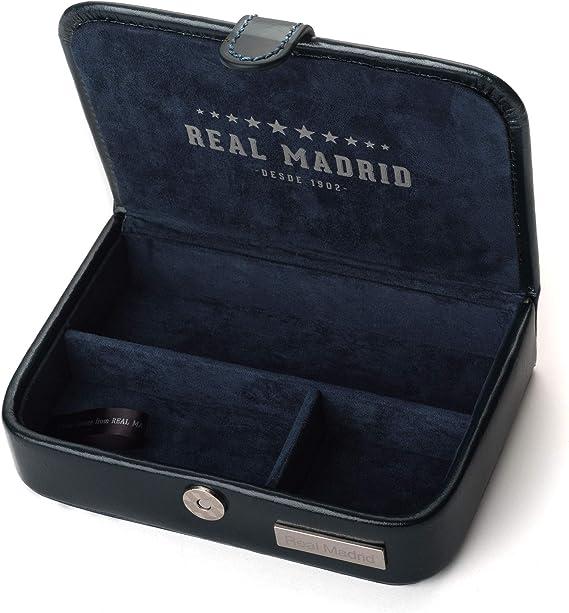 Real Madrid - Estuche de Viaje Hecho a Mano con Piel Pequeños Accesorios. Color Azul RMJ-80008: Amazon.es: Equipaje