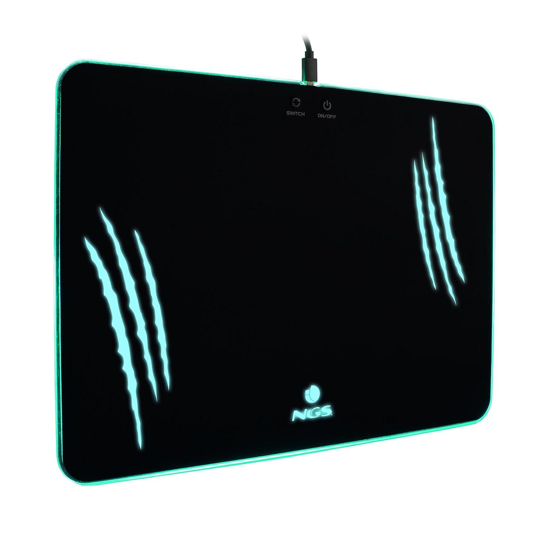 NGS Gaming Mouse Pad GPX-600, Alfombrilla para Gamers XXL con ILUMINACIÓN