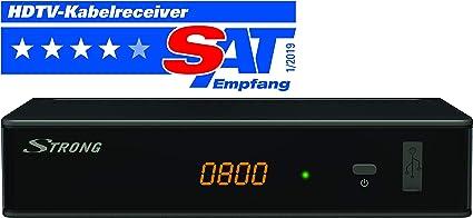 STRONG SRT 3002 HD - Receptor para televisión Digital por Cable DVB-C Full HD (HDTV, HDMI, SCART, USB, Reproductor multimedios), Color Negro: Amazon.es: Electrónica