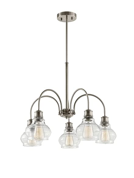 Kichler 48100clp schoolhouse 5 light chandelier classic pewter kichler 48100clp schoolhouse 5 light chandelier classic pewter aloadofball Choice Image