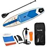 SUNCOO 10ft/11ft Inflatable Stand Up Paddle Board (4in/6in Thick) Non-Slip Deck Adjustable Paddle Backpack,Pump, Repairing kit