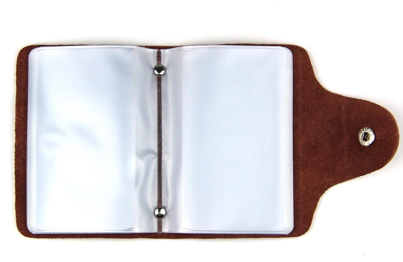 minimalista RayLineDo con 26/scomparti super sottile 10*7*2 portatessere in Vera Pelle Morbido mix