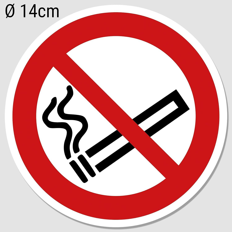 restaurant Interdiction de fumer non-fumeurs Pictogramme Protection UV Atelier Stickers interdiction de fumer /Ø 14/cm ext/érieur garage etc aussenkl autocollant pour le bureau