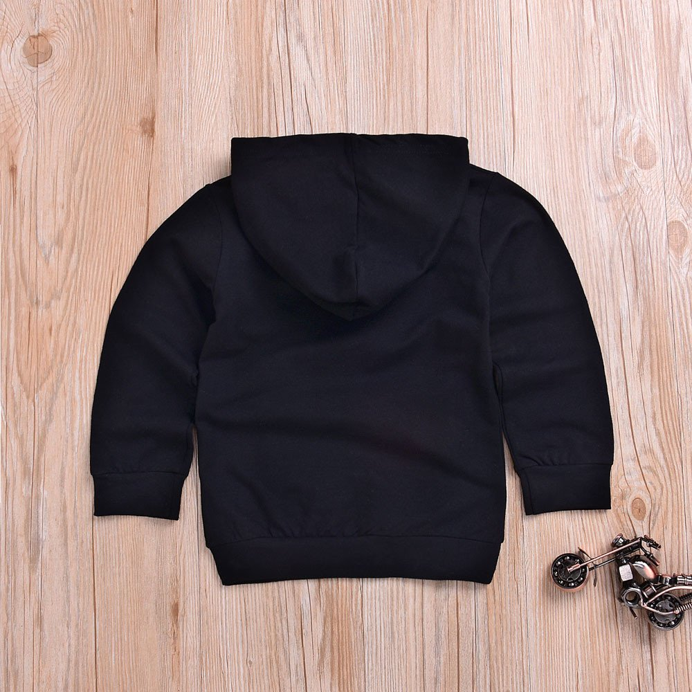 ❤️ Mealeaf ❤️ Toddler Outfit Infant Baby Boys Girls Coats Letter Print Hooded Pullover Sweater Tops Clothes 0-5t