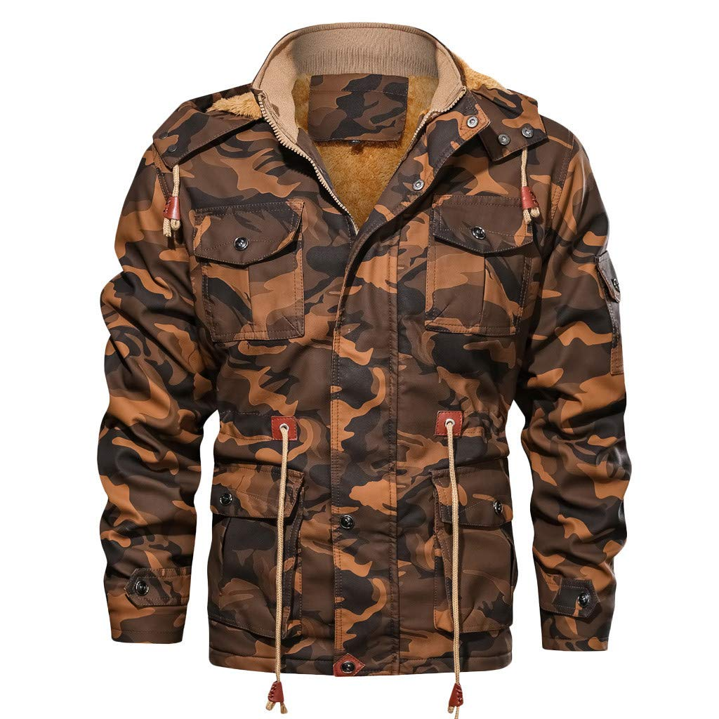 Mens Full Zipper Casual Winter Camo Outfitter Hoodies Sweatshirts with Pockets Fleece by Mens Hoodies F_Gotal