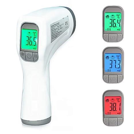 Berührungsloses Digitales Infrarot Thermometer Stirnpistole Für Babys Und Erwachsene Schnelle Und Genaue Temperaturmessung Fieberalarm Lebensmittel Und Oberflächenmessung Automatisches Ausschalten Baby
